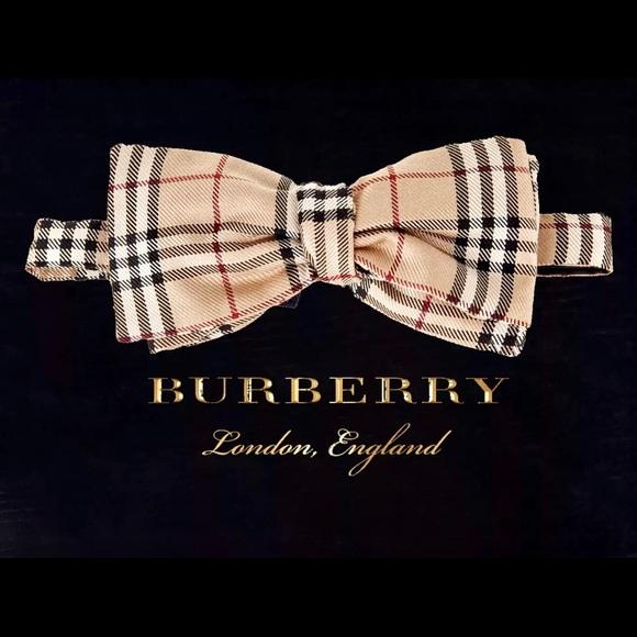 a23879178ad6 Burberry Accessories | Auth Plaid Nova Check Self Tie Bow Tie | Poshmark